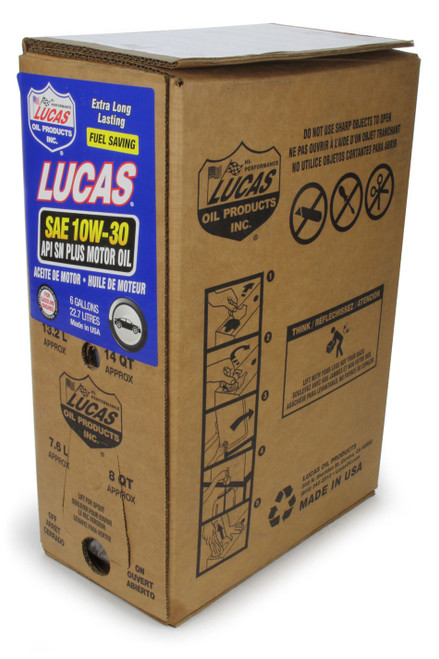 Lucas Oil 18002 SAE 10W30 Motor Oil 6 Gallon Bag In Box