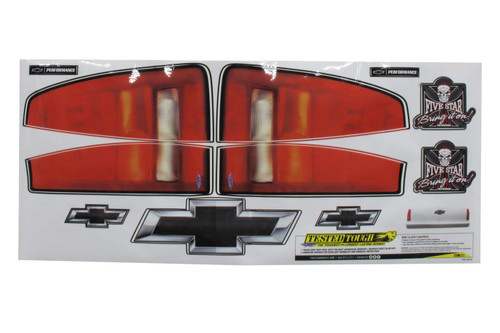 Fivestar T230-450-ID Chevy Pkup Taillight Truck Decal Stickers
