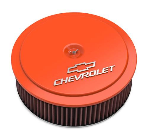 Holley 120-225 14 x 4 Air Cleaner  GM Muscle Series Orange