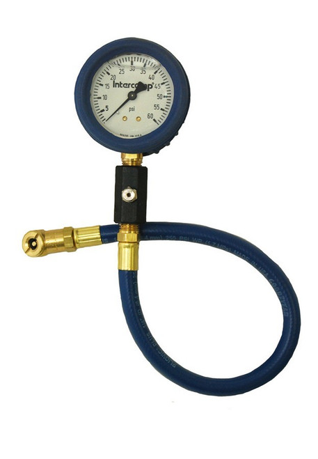 Intercomp 360067 Deluxe Air Gauge 2.5in 0-60 Liquid Filled