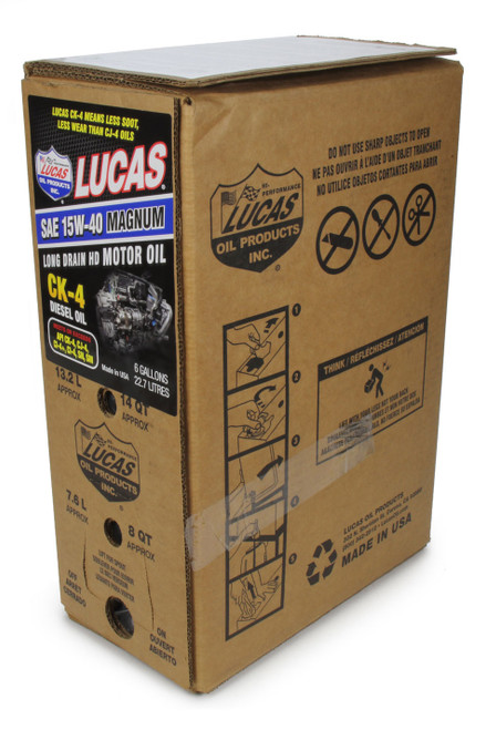 Lucas Oil 18014 SAE 15W40 CK-4 Truck Oil 6 Gallon Bag In Box