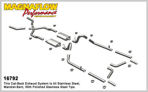 Magnaflow Perf Exhaust 16792 55-57 Chevy Bel Air Crossmember Back Exhaust
