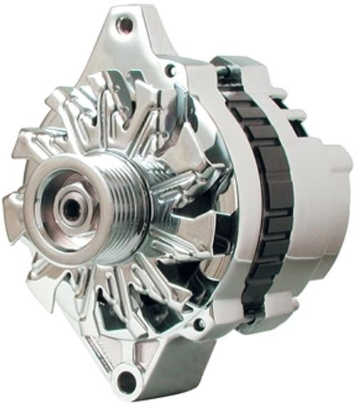 Powermaster 37803 Chrome 140 Amp Small Delco Alternator