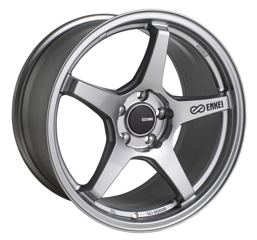 Enkei 521-790-8045GR TS-5 Storm Grey Tuning Wheel 17x9 5x100 45mm Offset 72.6mm Bore