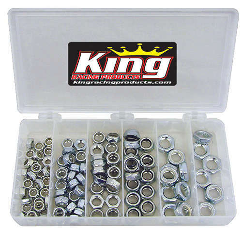 King Racing Products 2700 1/2in Steel Nut Kit 105pc
