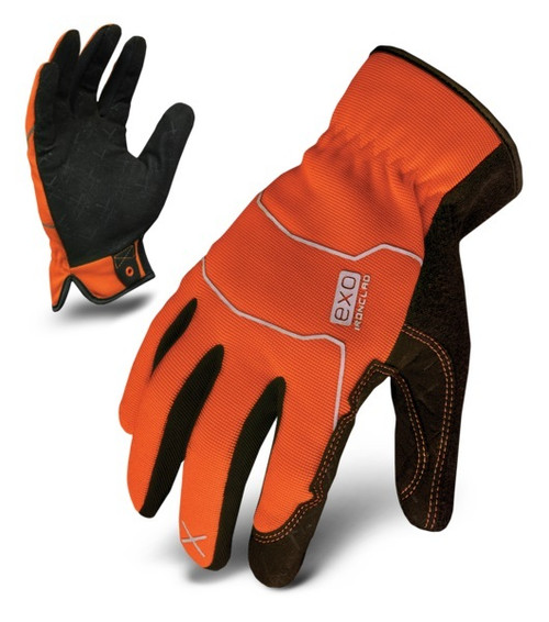 Ironclad EXO2-HSO-04-L EXO Hi-Viz Utility Safety Orange Large