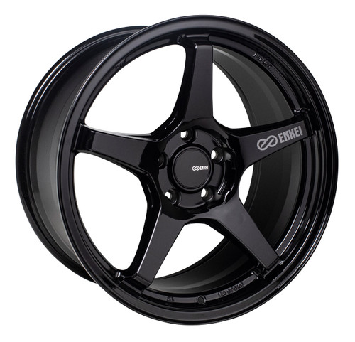 Enkei 521-880-4445BK TS-5 Gloss Black Tuning Wheel 18x8 5x112 45mm Offset 72.6mm Bore
