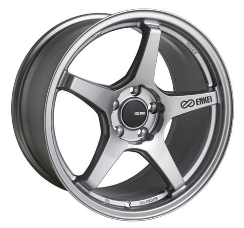 Enkei 521-880-4445GR TS-5 Storm Grey Tuning Wheel 18x8 5x112 45mm Offset 72.6mm Bore