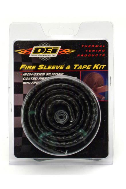 Design Engineering 111001 Fire Sleeve & Tape Kit-1 -5/8in I.D. x 3ft Black