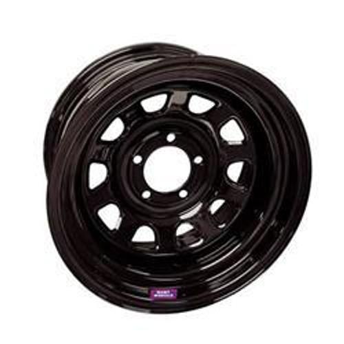 Bart Wheels 7015812 15x8 5x4.5 3.75in BS Blk Supertrucker Wheel