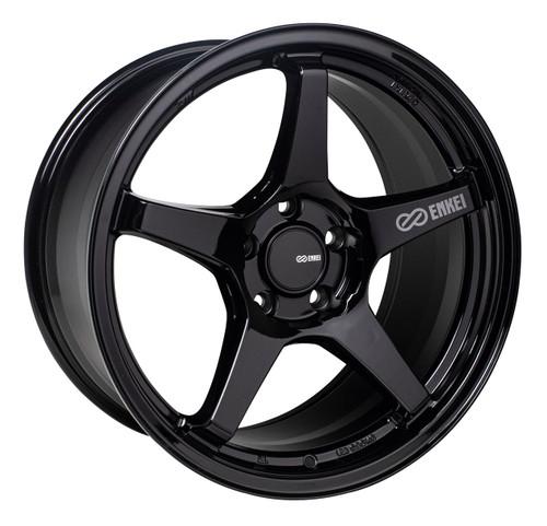 Enkei 521-880-8045BK TS-5 Gloss Black Tuning Wheel 18x8 5x100 45mm Offset 72.6mm Bore