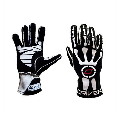 Driven Steering Wheels DRG0102XLG Black Skeleton Gloves X-Large