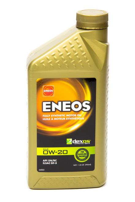 Eneos 3701-300 Full Syn Oil Dexos 1 0w20 1 Qt