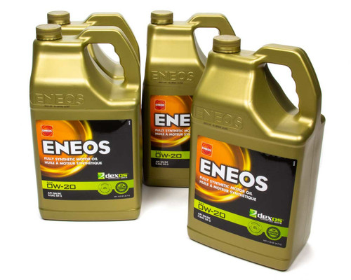 Eneos 3701-323 Full Syn Oil Dexos 1 Case 0w20 4 X 5 Qt