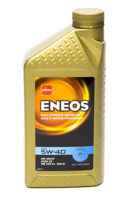 Eneos 3704-300 Full Syn Oil 5w40 1 Qt