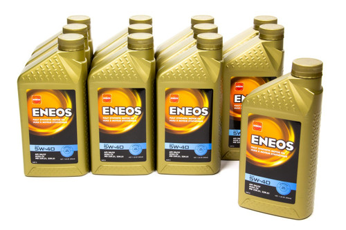Eneos 3704-301 Full Syn Oil 5w40 Case 12 X1 Qt