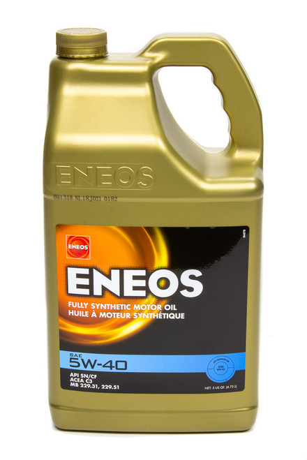 Eneos 3704-320 Full Syn Oil 5w40 5 Qt