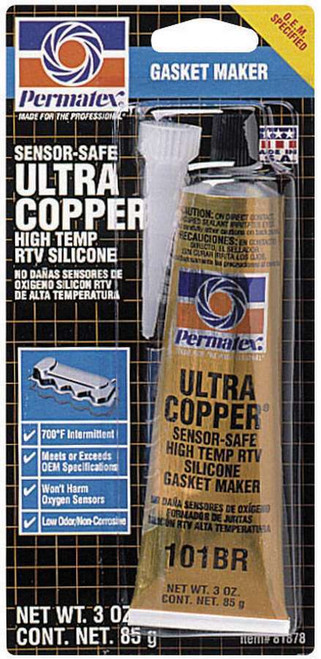 Permatex 81878 Ultra Copper Gasket Maker 3oz Carded Tube