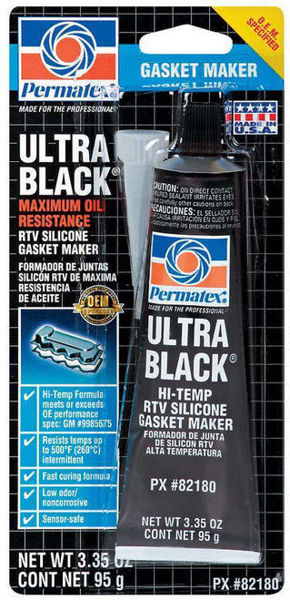 Permatex 82180 Ultra Black Gasket Maker 3oz Carded Tube