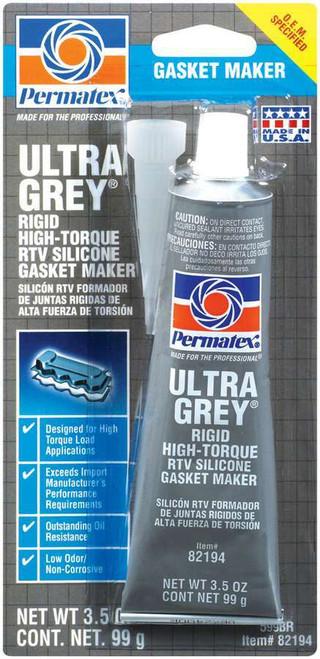 Permatex 82194 Ultra Grey Gasket Maker 3oz Carded Tube