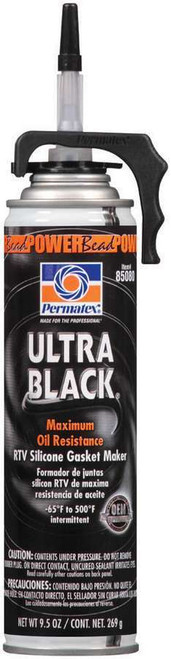 Permatex 85080 Powerbead Ultra Black RTV Silicone 9.5oz
