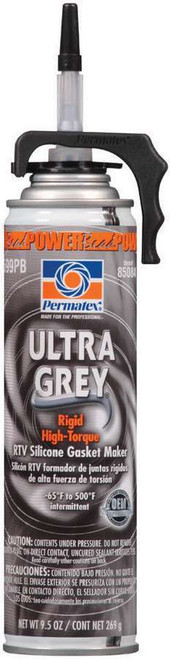 Permatex 85084 Powerbead Ultra Grey RTV Silicone 9.5oz