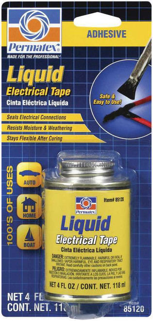 Permatex 85120 Liquid Electric Tape 4oz Can w/Brush