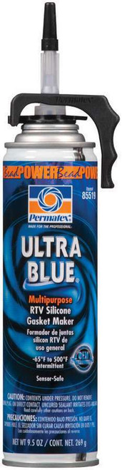 Permatex 85519 Powerbead Ultra Blue RTV Silicone 9.5oz
