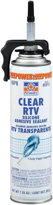 Permatex 85913 Powerbead Clear RTV Silicone 7.25oz