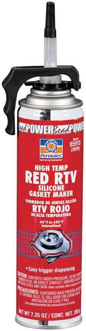 Permatex 85915 Powerbead Red RTV Silicone 7.25oz