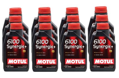 Motul Usa 107975-12 6100 Synergie+ 5w40 Case 12 x 1 Liter