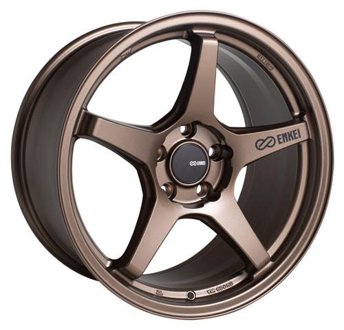 Enkei 521-895-6538ZP TS-5 Matte Bronze Tuning Wheel 18x9.5 5x114.3 38mm Offset 72.6mm Bore