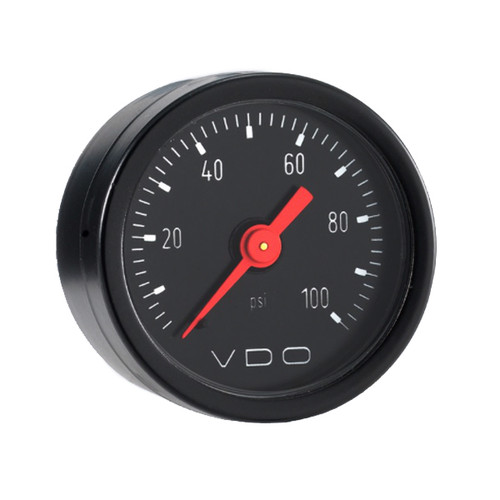 Vdo 153-009 Fuel Pressure Gauge Mech 0-100psi 1.5in Dia
