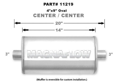 Magnaflow Perf Exhaust 11219 Stainless Muffler 3in Center In/Out