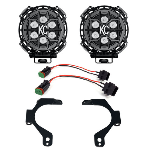 Kc Hilites 503 18-   Jeep Wrangler JL LZR LED Spot Lights
