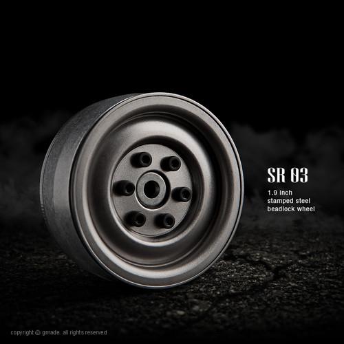 Gmade 70187 1.9 SR03 Beadlock Wheels (Uncoated Steel) (2)