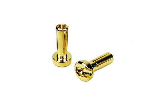 1UP Racing 190401 LowPro Bullet Plugs - 4mm - Pair
