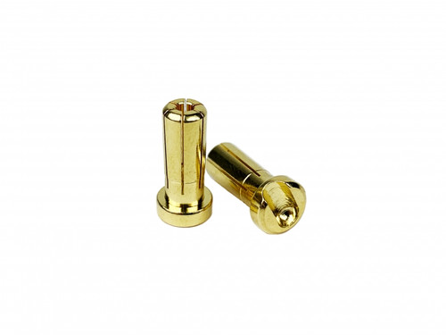 1UP Racing 190405 Low Pro Bullet Plugs 5mm (10 Pack)