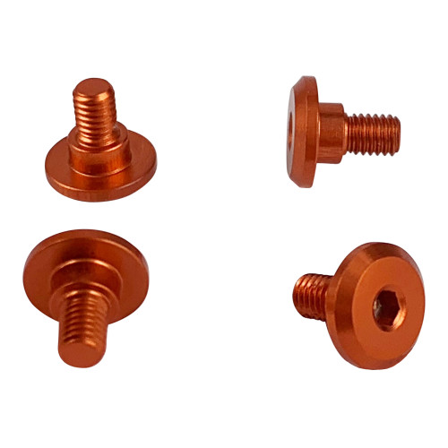 1UP Racing 80251 Servo Mounting Screws 4.2mm Neck M3x4mm Thread Orange (4)