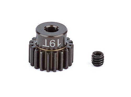 """Team Associated 1337 FT Aluminum Pinion Gear, 19T 48P, 1/8"""" shaft"""