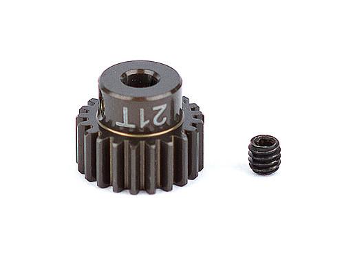 """Team Associated 1339 FT Aluminum Pinion Gear, 21T 48P, 1/8"""" shaft"""