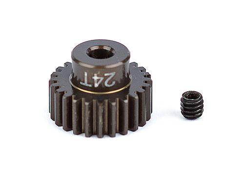 """Team Associated 1342 FT Aluminum Pinion Gear, 24T 48P, 1/8"""" shaft"""