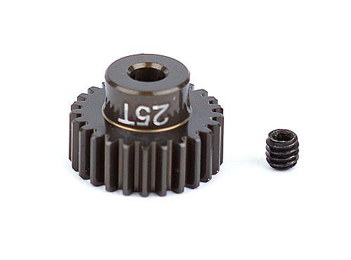 """Team Associated 1343 FT Aluminum Pinion Gear, 25T 48P, 1/8"""" shaft"""