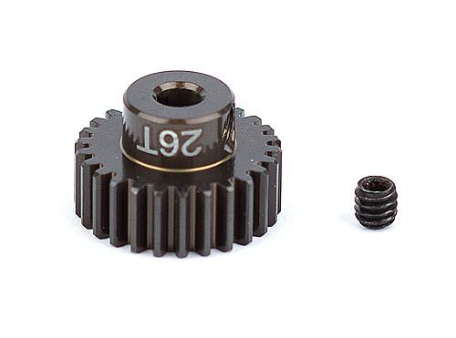 """Team Associated 1344 FT Aluminum Pinion Gear, 26T 48P, 1/8"""" shaft"""