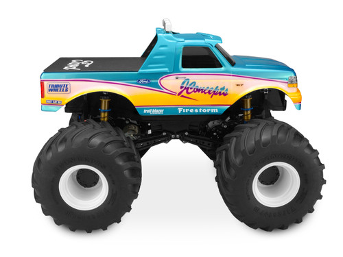 J Concepts 0303 1993 Ford F-250 monster truck body w/racerback and visor