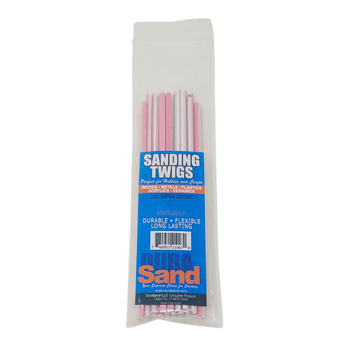 Durasand 21007 Sanding Twigs, 20 Pieces Bagged, 280/320 Pink