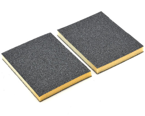 Durasand 25001 2-Sided Black Sanding Pads, 2pcs, Coarse 60 Grit