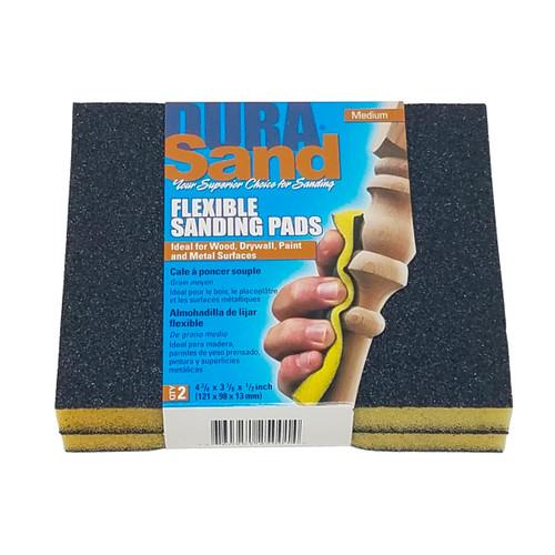 Durasand 25002 2-Sided Black Sanding Pads, 2pcs, Medium - 100 Grit