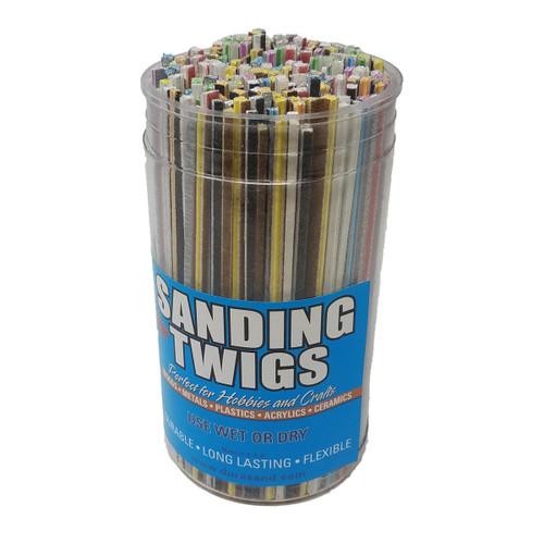 Durasand 34001-300 Sanding Twigs, 300 Piece Bucket, Assorted Grits &