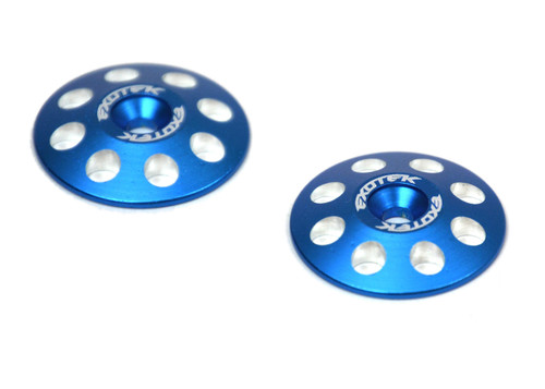 Exotek Racing 1665BLU 1/8 Blue XL Wing Buttons 22mm (2)